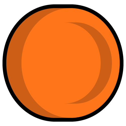 Wellgiving charity funds orange coin icon